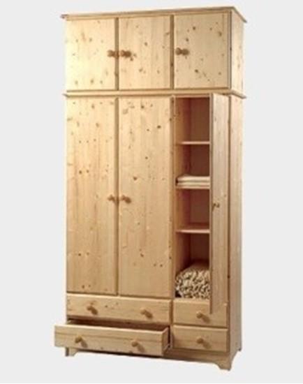 Nábytek z masivu, dřevěný nástavec na skříň. Gazel