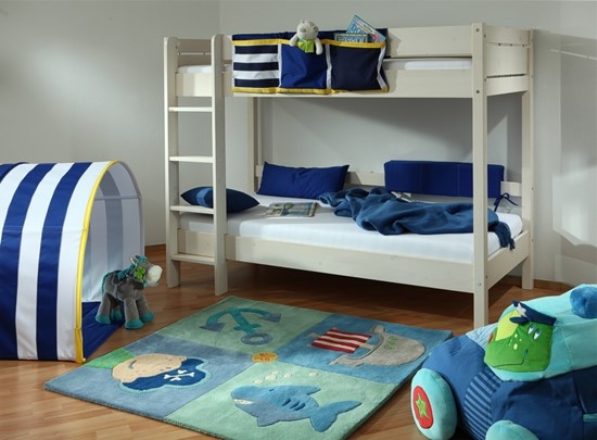 Dětská patrová postel Keyly v bílém provedení Gazel