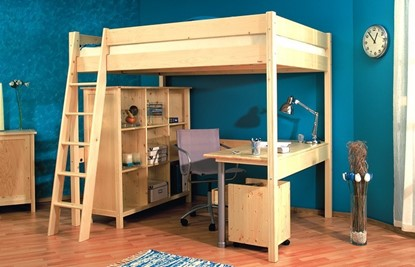 Nábytek z masivu, dřevěná pracovní deska k posteli Ráchel 140. Gazel