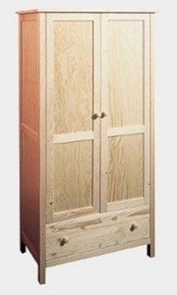 Dřevěná šatní skříň Gazel