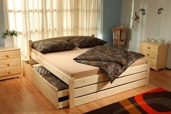 Vysoká postel do ložnice, dvoulůžko Gazel