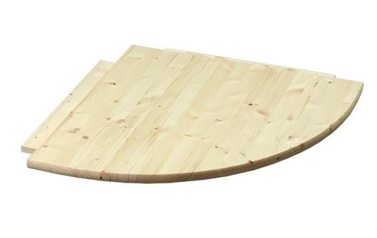 Dřevěný rohový díl k psacímu stolu Gazel.