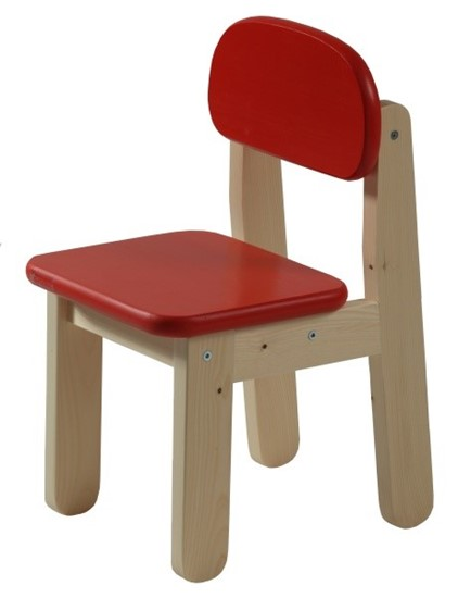 Dřevěná dětská židle v několika barevných variantách