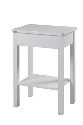 Noční stolek bílý k postelím Senior a k Pečovatelským lůžkům.