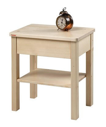 Noční stolek z masivu, Gazel.