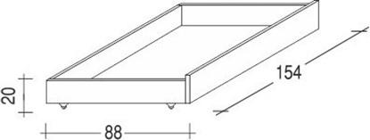 Úložný prostor pod postele tříčtvrteční buk. Gazel