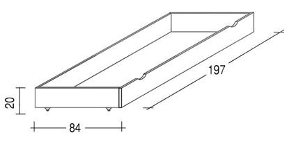 Dřevěná přistýlka bílá pod postele Gazel.