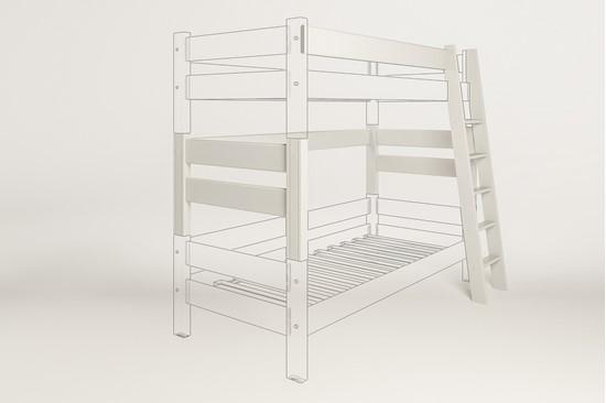 Dřevěný nábytek Gazel, spojovací díl k posteli Sendy bílá