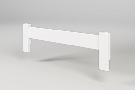 Nábytek z masivu, zábrana k posteli bílá. Gazel